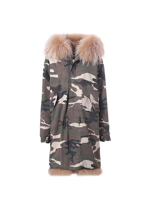 BLONDE FUR PARKA