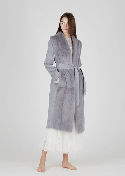 IVORY CASHMERETWO-WAY MINK COAT