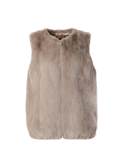 MILK BROWN MINK VEST
