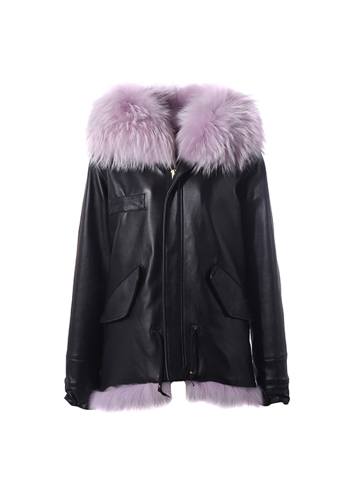 BABY PURPPLE FUR PARKA