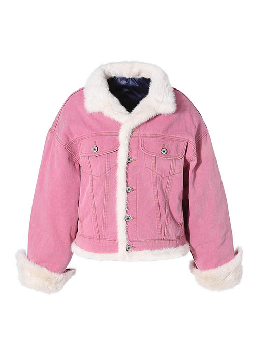 PINK REVERSIBLE MINK DOWN