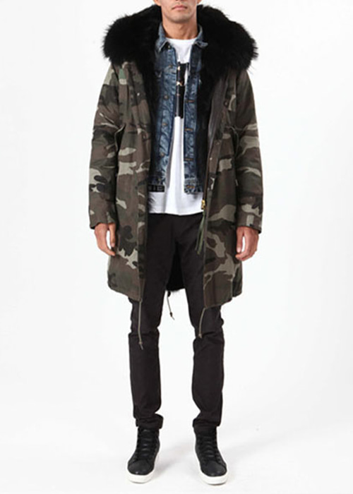 BLACK FUR PARKA