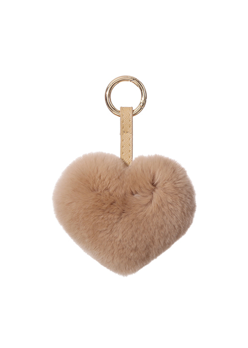 REX HEART KEYRINGBROWN