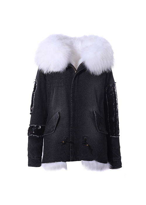 WHITE FUR  PARKA