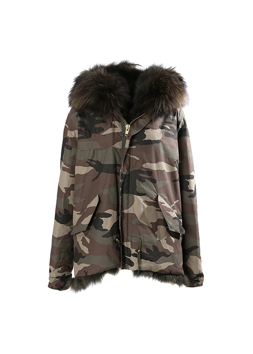 KHAKI FOX SHORT PARKA
